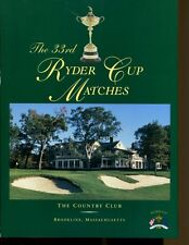 1999 Ryder Cup Golf Program Brookline Massachusetts Country Club Ex MBX1 35135