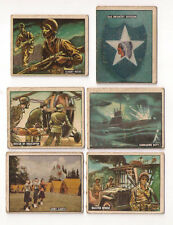 (6) 1950 TOPPS FREEDOM'S WAR CARD LOT