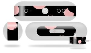 Skin for Beats Pill Plus Lots of Dots Pink on Black Decal Wrap