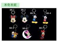 cute mickey minnie pink bowknot lots key chain key chains cute chains new