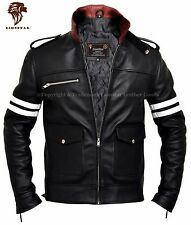 Lionstar Rocky Newage Italian Motorbike Motorcycle Style Real Leather Jacket