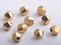 30pcs 10mm Twist Helix Crystal Glass Findings Loose Spacer Beads Gold Plated