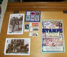 NATIONAL POSTAL MUSEUM WASHINGTON USA LEAFLET WITH TEN STAMPS & 2 POSTCARDS 2006