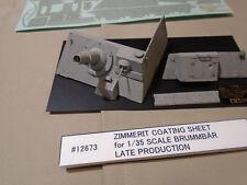 Tamiya 12673 ZIMMERIT COATING SHEET f/ 35353 1/35 Brummbar Late Production
