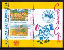 INDONESIA 1984 SGMS 1762 Int Stamp Exhibition - Ausipex mini-sheet u/m. Cat £45