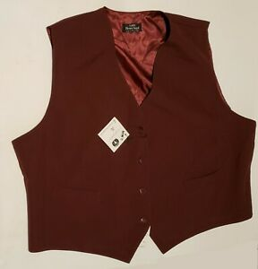 Women's Uniform Vest 3XL Maroon Henry Segal 3X Bartender Waitress Waiter Server