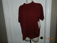 Designers Originals Sz Large Short Elbow Sleeve Turtleneck Sweater burgundy