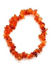 Gem Chip Bracelet GEMSTONE Carnelian Crystal Jewellery Reiki Charged
