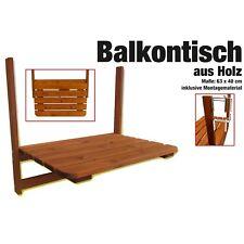 Kynast klappbarer Balkontisch aus Holz Klapptisch Hängetisch Balkonhängetisch