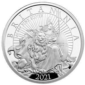 2021 Great Britain £2 Britannia Proof 1 oz Silver Coin - 2,900 Made