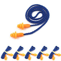 25Pcs Soft Silicone Corded Ear Plugs Reusable Hearing Protection Earplugs