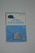 Wheel Works WW-132 Truck Cab & Chassis Metal Model Kits N scale