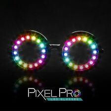 GloFX Pixel Pro LED Glasses 350 Modes Rainbow Colors Super Bright Rave EDM Party