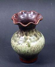 Feine Vase mehrfarbig glasiert, signiert, Hirch Sagar Niederschlesien!
