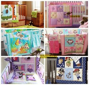 Baby Boy Girl 2 Pieces Quilt + Sheet Cotton Nursery Bedding Crib Cot Set