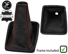 RED STITCH LEATHER GEAR BOOT PLASTIC FRAME FITS SUBARU FORESTER 2002-2008