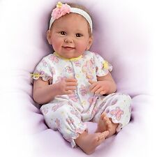 Ashton Drake Butterfly Kisses and Flower Lifelike Baby Doll by Linda Murray