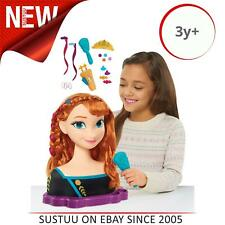 Disney Frozen Deluxe Anna Styling Head│Fashion Accessories Doll Toy│3y+