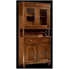 Credenza 2 ante napoletana arte povera in legno massello, cristalliera, mobile