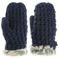 Gants et moufles mitaines noire en fourrure pour femme