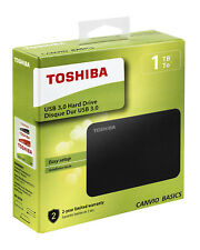 "Toshiba - Disque Dur Externe Portable 2,5"", 1 TO, USB 3.0, Noir Neuf"