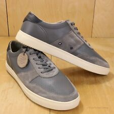 New! CLAE Gregory SP Grey Perforated Leather Sneakers Casual Shoes 10.5 fits 11