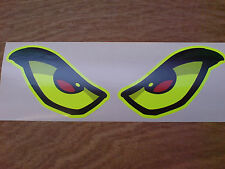 EVIL EYES Extra Large FLUORESCENT Car Motorcycle Helmet Stickers Decals 260mm