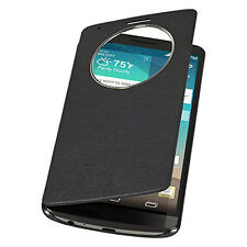 Slim Quick Circle Window Leather Flip Case Cover for LG G3 D850 D855 VS985 Excel