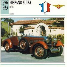 "HISPANO-SUIZA 1926-1933 ""H6 C""  ADVERTISING BROCHURE"