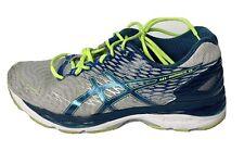 Asics Gel Nimbus 18 | T600N | White/Island Blue, Mens Running Shoes Size US 9.5