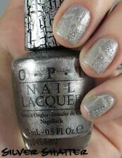 NEW! OPI Nail Polish Vernis SILVER SHATTER ~ Dazzling Silver Crackle-effect