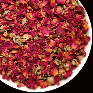 Edible Dried Rose Petals Buds Flowers Craft, Soap Candle Cake Decor Tea Infusion