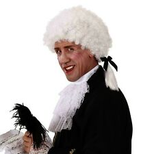 White Mens Mozart Wig Nobleman 18th Century Fancy Dress Masquerade Venetian