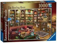 Ravensburger The Reading Room 1000pc Jigsaw Puzzle - Book Lovers Library