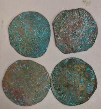 """1800s OTTOMAN CAPPADOCIA Kelveri """"Bracteate"""" 10 Para Token Four Coin Lot (L6458)"""