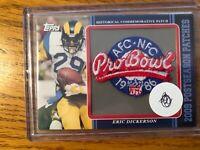 Topps 2009 Postseason Patches St Louis Rams Eric Dickerson Pro Bowl Worn