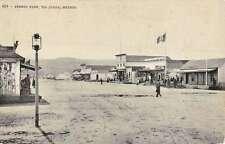 Tiajuana Mexico Street View Black And White Antique Postcard K18906