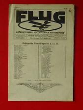 alte Zeitschrift FLUG Organ des Deutschen Fliegerbundes 1.Jahrgang Nr. 23 ( 3526