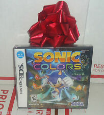 SONIC COLORS NES NINTENDO DS LITE DSi XL 3DS SYSTEM GAME SEALED  FREE SHIPPING!!