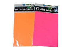 Hoja para Creación de Tarjetas Colores Fluorescentes A5 200 gsm 48u Nuevo