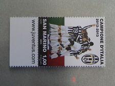 SAN MARINO 2013 francobollo con appendice SITO JUVENTUS CAMPIONE ITALIA 2012 -13