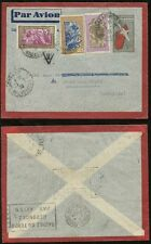 MADAGASCAR STATIONERY 1939 UPRATED 4 COLOUR AIRMAIL to BELGIUM...HELIER