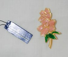 Wfwp 1995 Dc Intl Friendship Conf Peace Boxed Camille Usa Pink Flower Pin Brooch