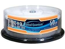 Optical Quantum 50GB 6X BD-R DL White Inkjet Hub Printable 25 Packs Disc Model O