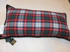 Ralph Lauren Plaid Brushed Cotton Oblong deco pillow NWT