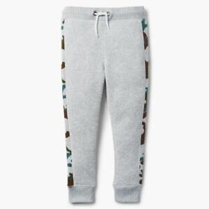NWT Gymboree Boys Pull on Pants Sweatpants Jogger Gray Camo 7/8,10/12