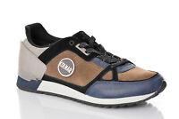 Sneakers Uomo Colmar Travis Supreme Pad Scarpe Pelle Nylon Marrone Nero Nuove