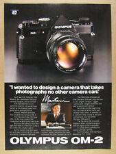1980 Olympus OM-2 Camera yoshihisa maitani photo vintage print Ad