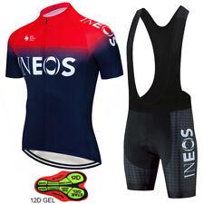 KJX4956 Mtb Mens Cycling Short Sleeve Jersey bib Shorts 3D GEL PAD Size S-XXX