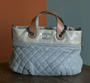 VERIFIED Authentic CHANEL Quilted Iridescent Calfskin Leather Tote Bag